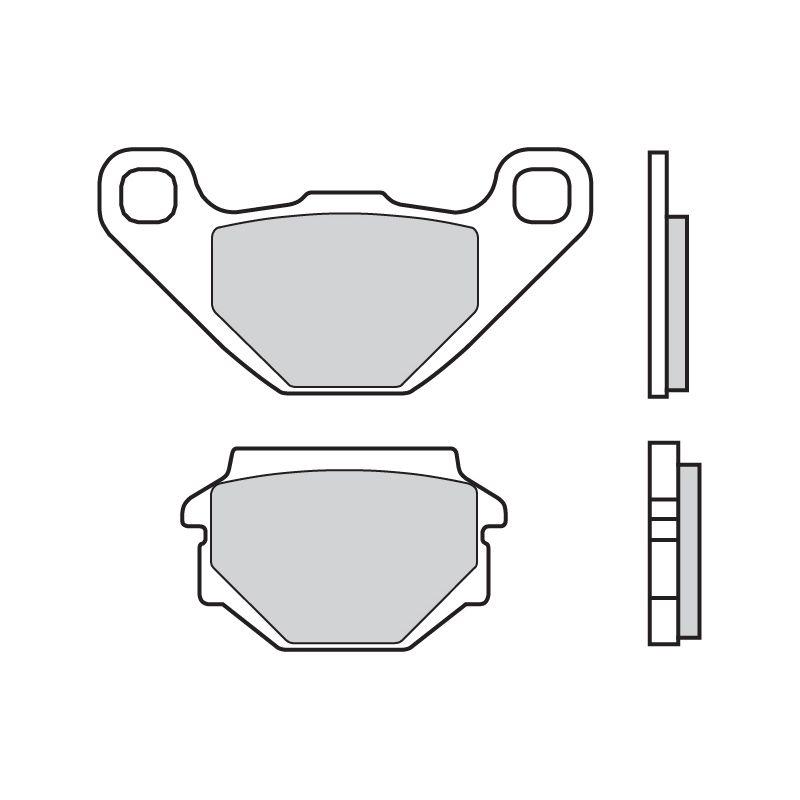Plaquettes de frein Brembo 07015CC carbone céramique arrière