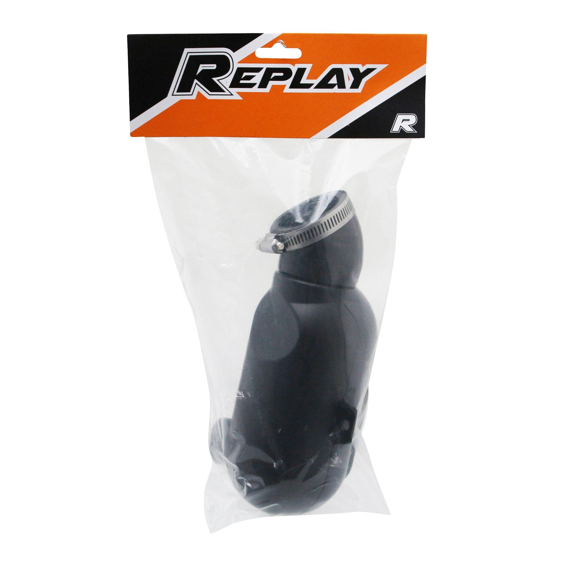 Boite à air Replay type karting noir Ø28/35
