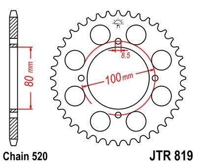 Couronne JT Sprockets Acier pas 520 39 dents - Pour Suzuki RG 250 Gamm
