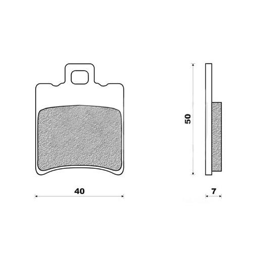 Plaquettes de frein Doppler 03 MBK Booster / Nitro