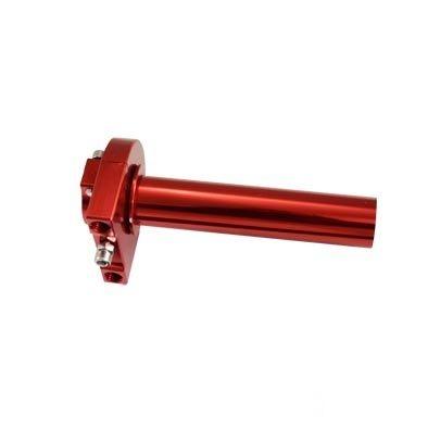Poignée de gaz alu CNC rouge