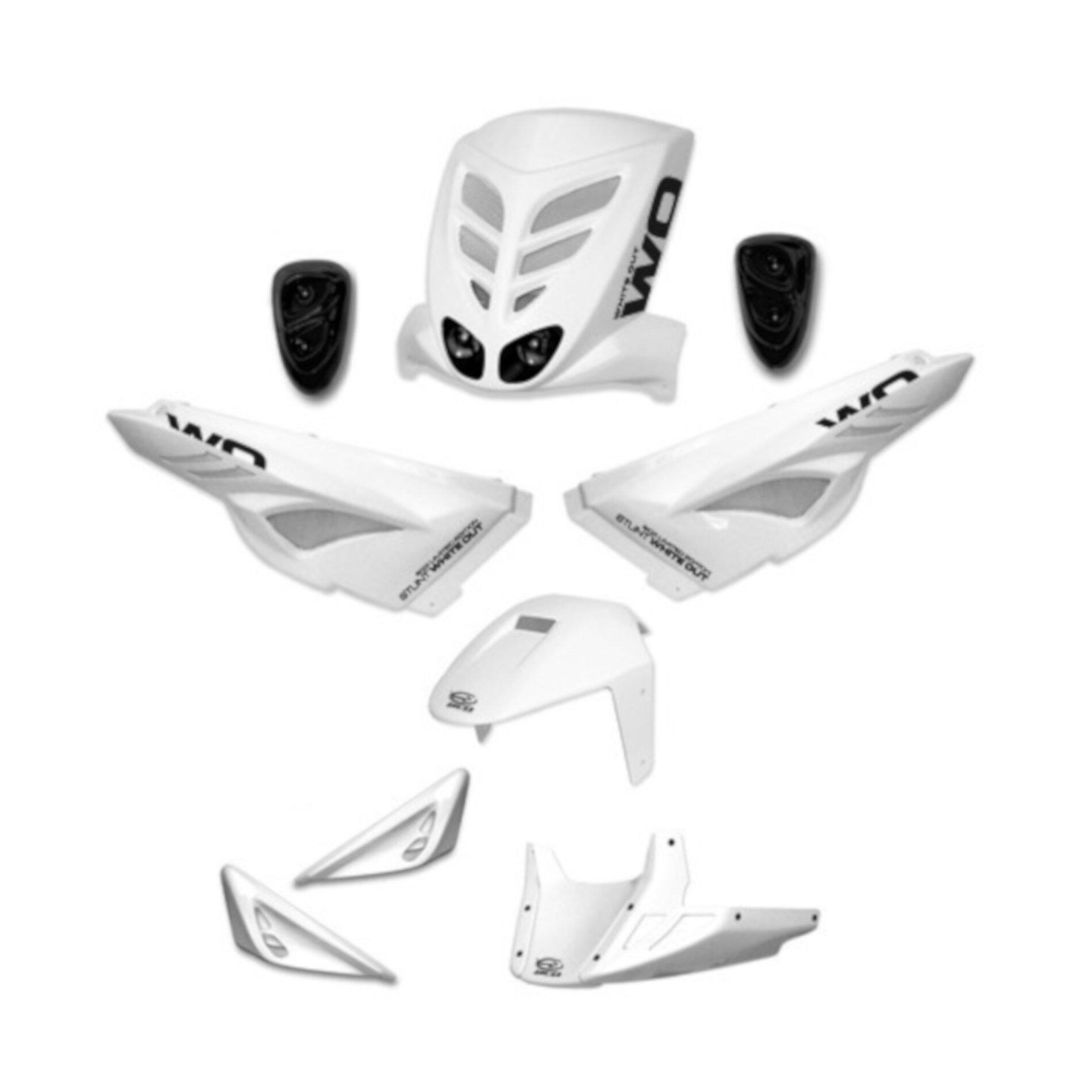 Kit habillage BCD white out MBK Stunt - Homologué