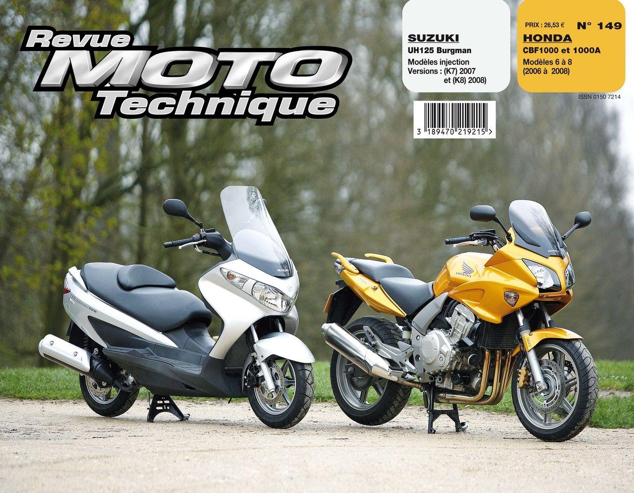 Revue Moto Technique 149.1 Suzuki UH125 Burgman (injection) 07-08 / Ho