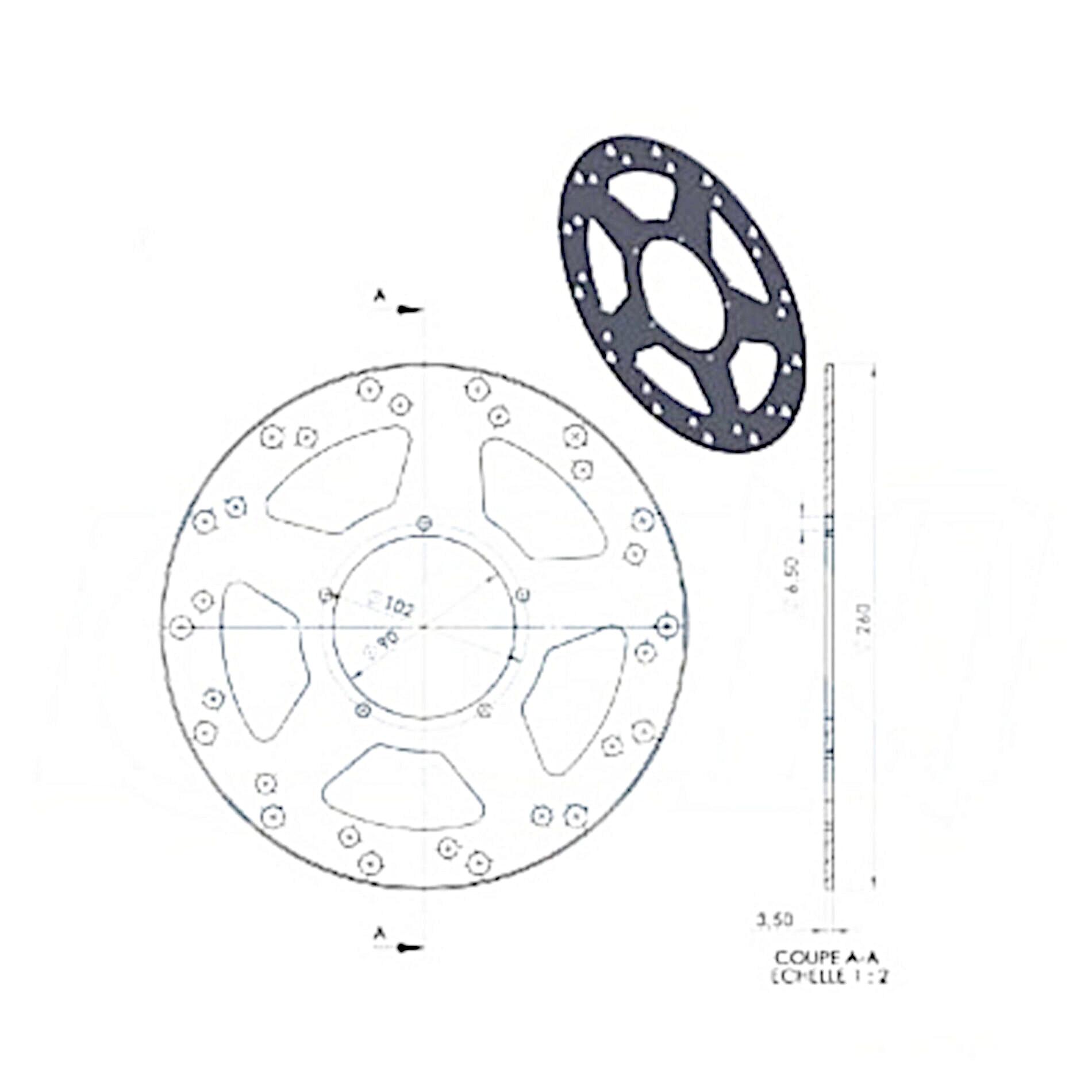 Disque de frein avant NG Brake Disc D.260 PEUGEOT XR6 2000 - 342