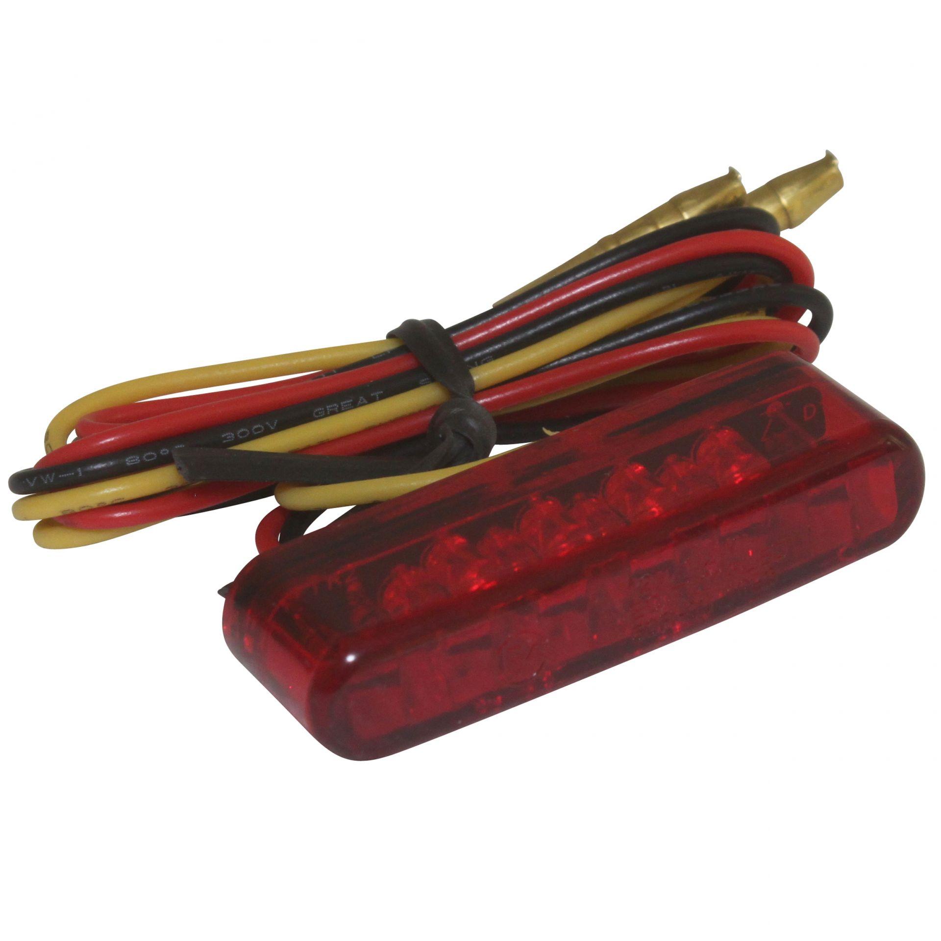 Feu arrière universel Replay à leds barette rouge à coller