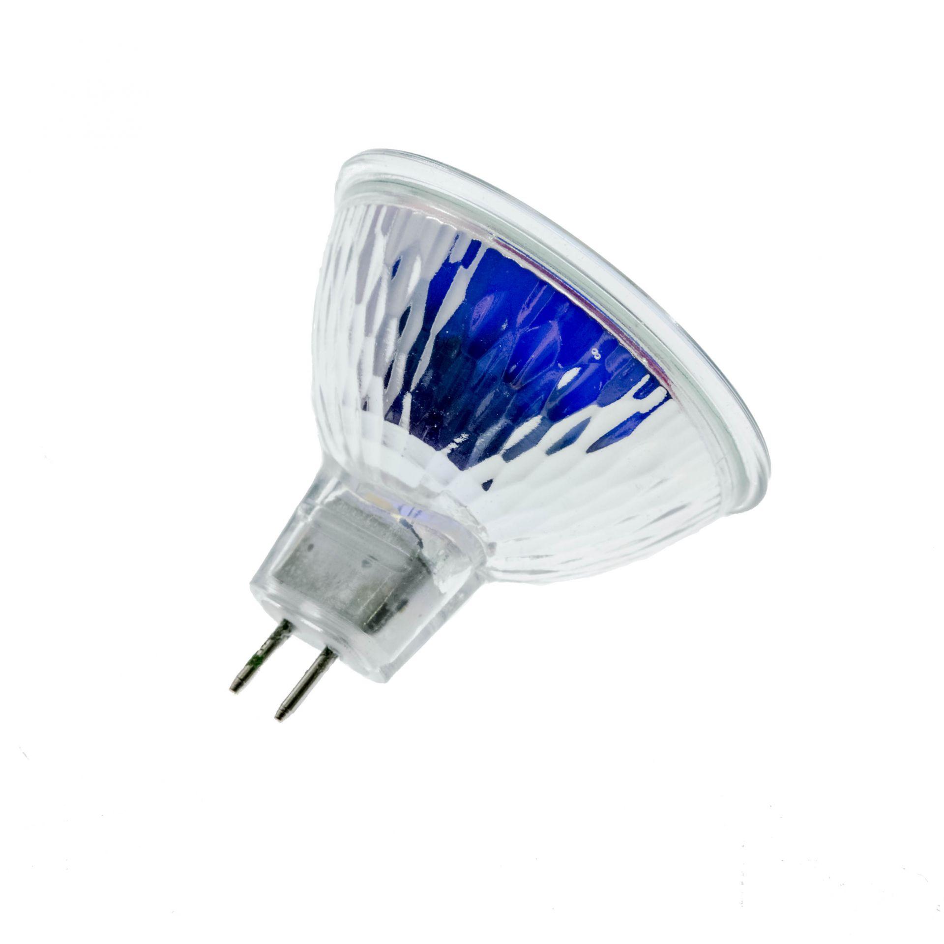 Ampoule MR16 H20W Dichroïque halogène 12V 20W D.50 - Bleu