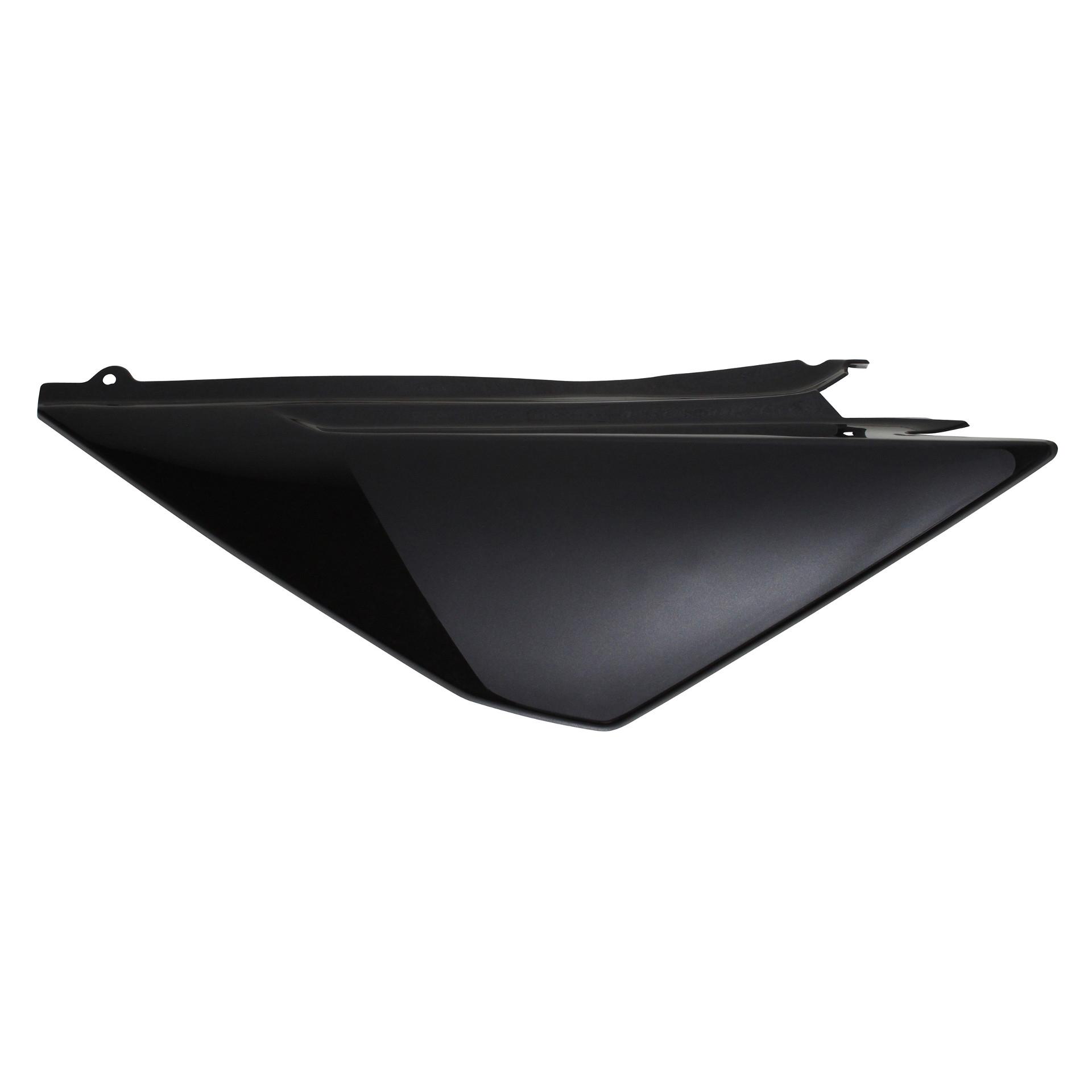 Coque arrière 1Tek Origine noir brillant gauche Derbi Senda DRD Racing