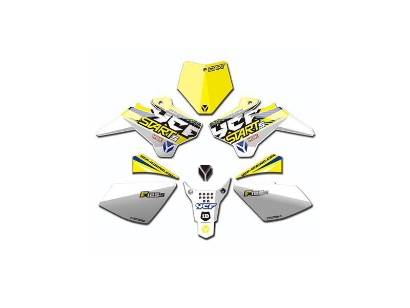 Kit déco YCF pour YCF Start F 125S 2017 blanc/jaune