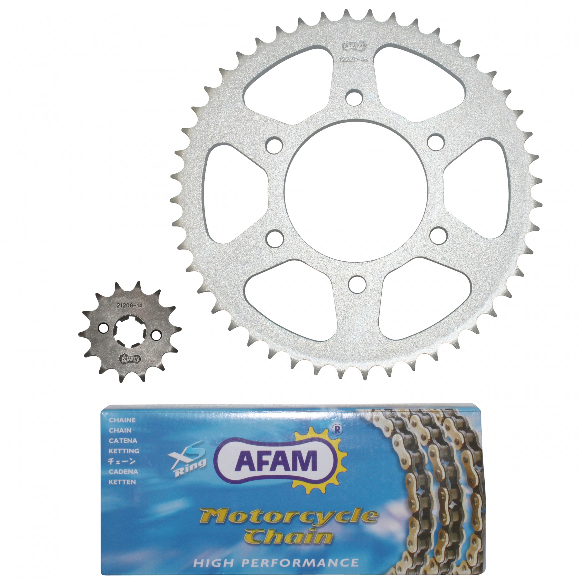 Kit chaîne Afam 14x48 Yamaha 125 YZF R 08-12