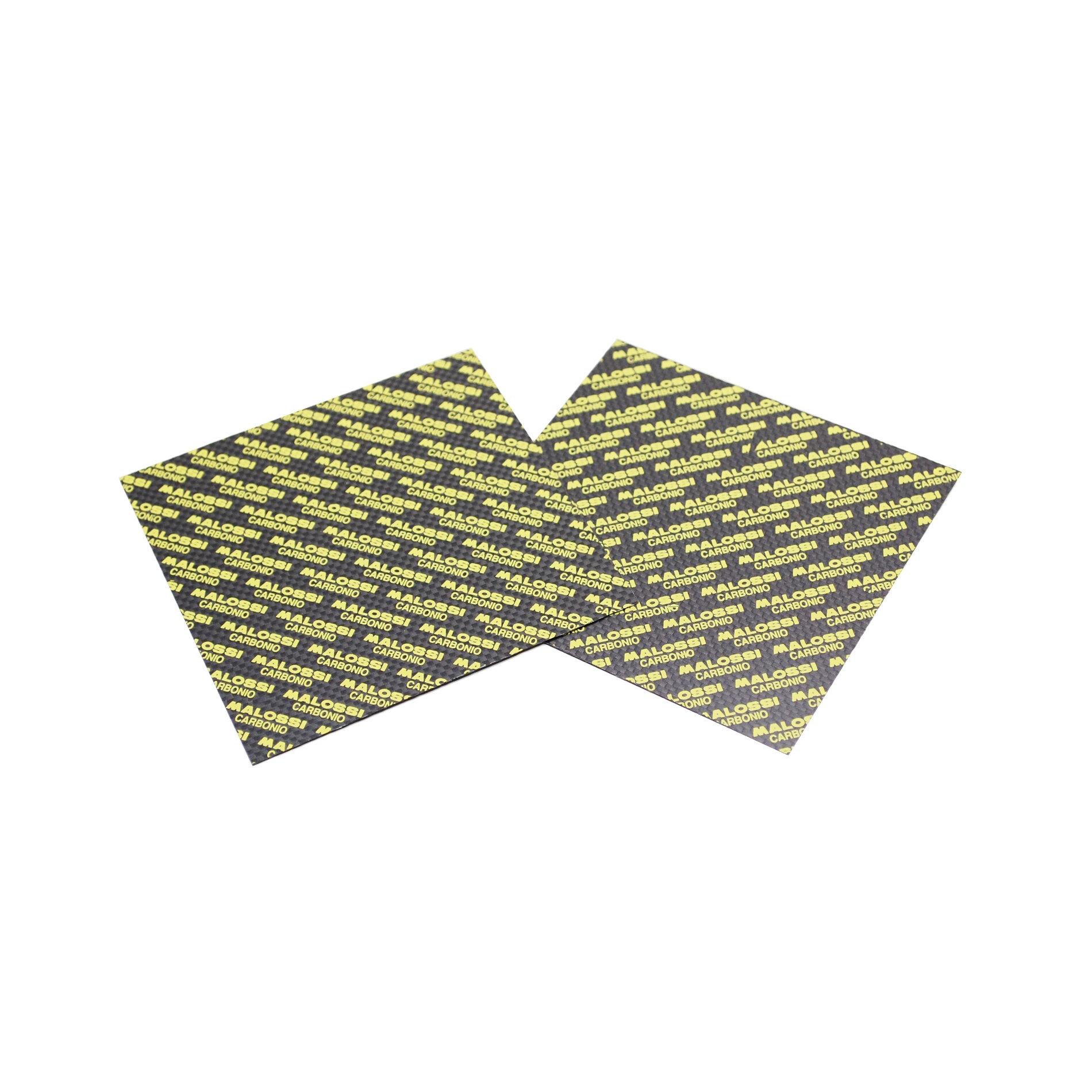 2 Plaques Carbone Malossi à découper 100x100mm - 0.30