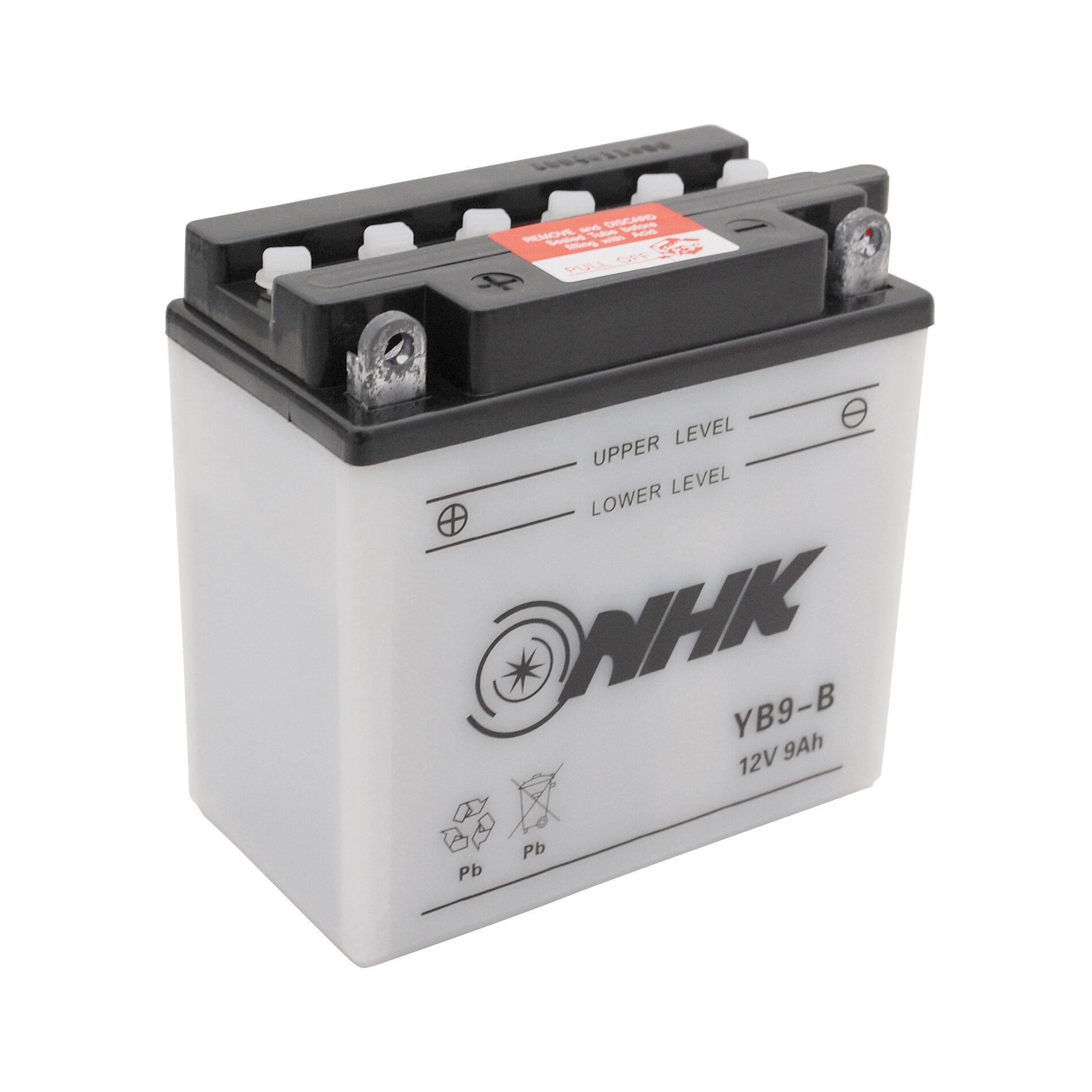 Batterie NHK YB9-B 12V 9Ah avec entretien