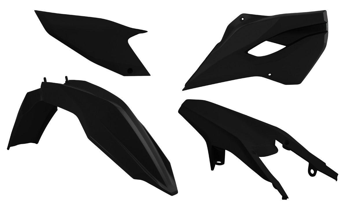 Kit plastique Racetech noir pour Husqvarna TE 125 2014
