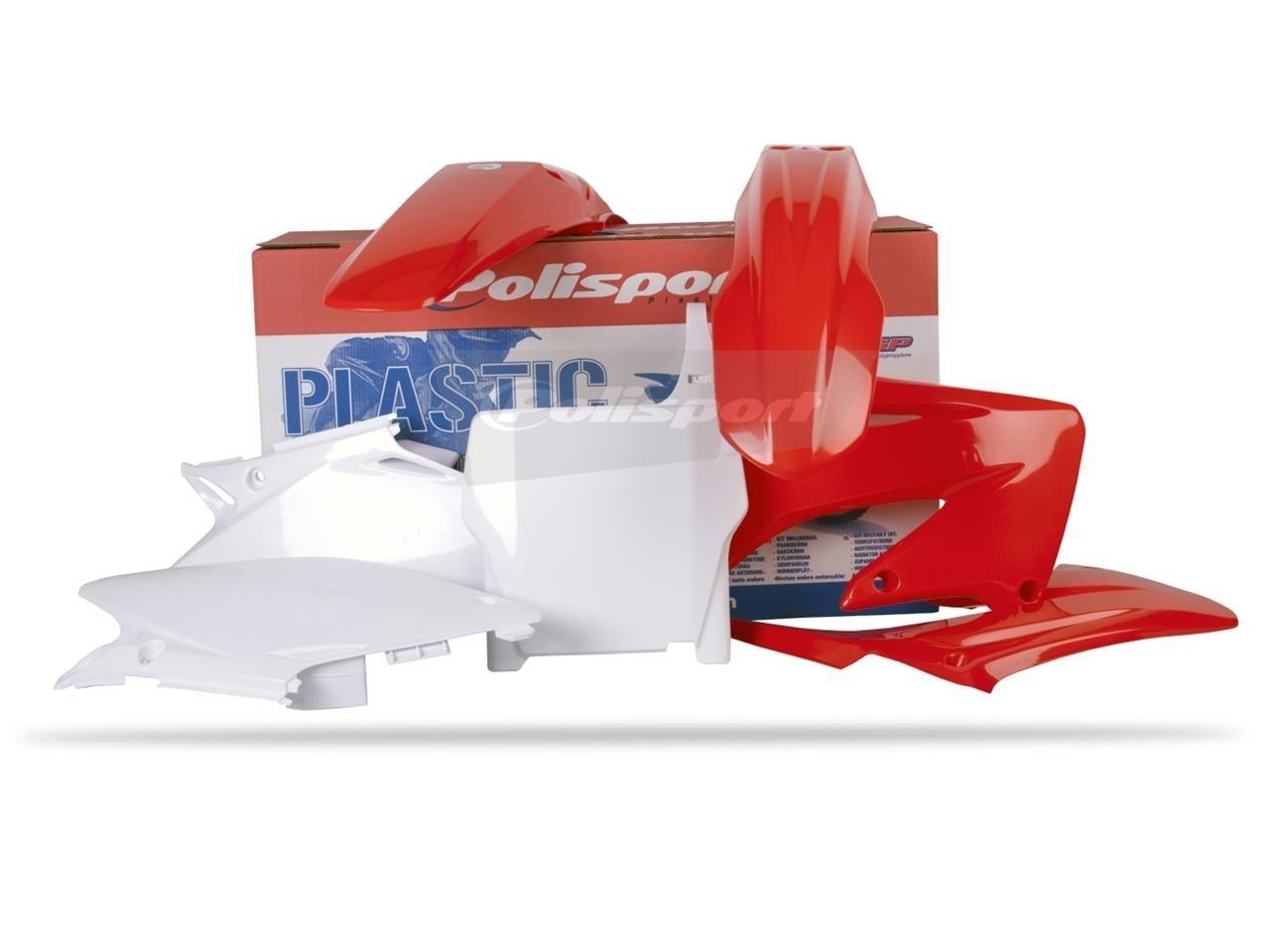 Kit plastique Polisport Honda Cr 250R 04-07 (rouge/blanc origine)