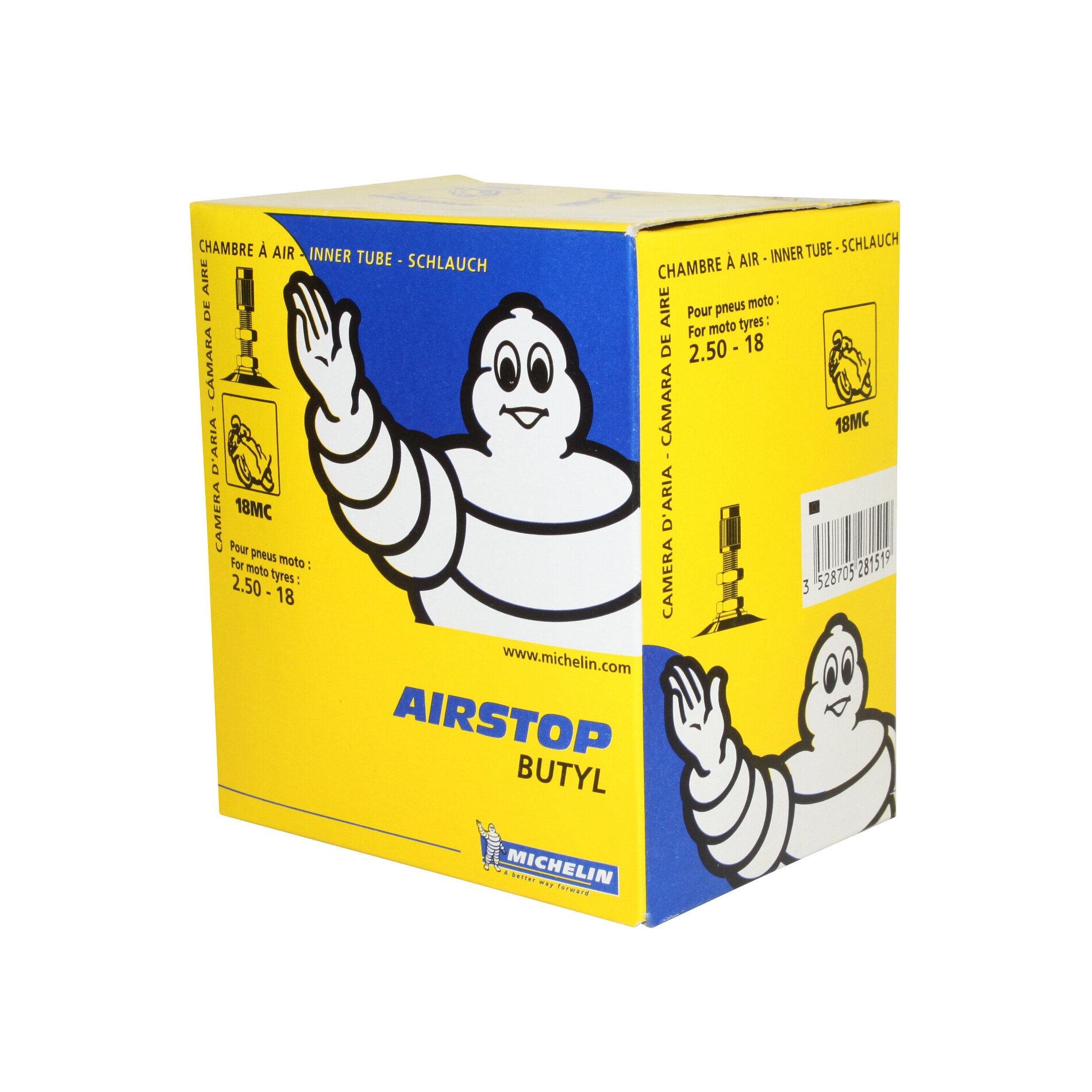Chambre à air Michelin Street 2,50-18 valve droite TR4
