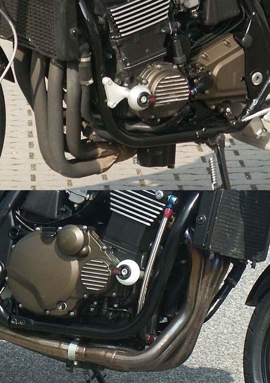Kit fixation moteur pour tampon de protection LSL Kawasaki ZRX 1200 R