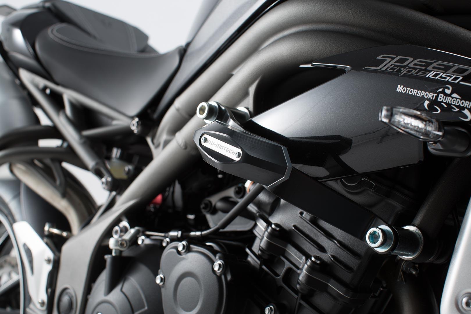 Kit de tampons de protection SW-MOTECH noir Triumph Speed Triple 1050