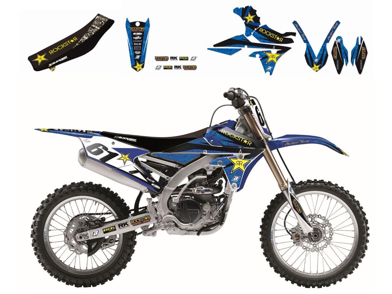 Kit déco + Housse de selle Blackbird Rockstar Energy Yamaha 250 YZ 15-