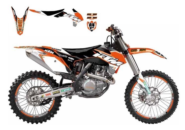 Kit déco + Housse de selle Blackbird Dream Graphic 3 KTM 450 SX-F 13-1