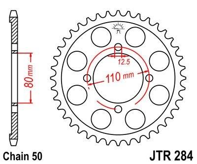 Couronne JT Sprockets Acier pas 530 40 dents - Pour Honda CB 650 RC03