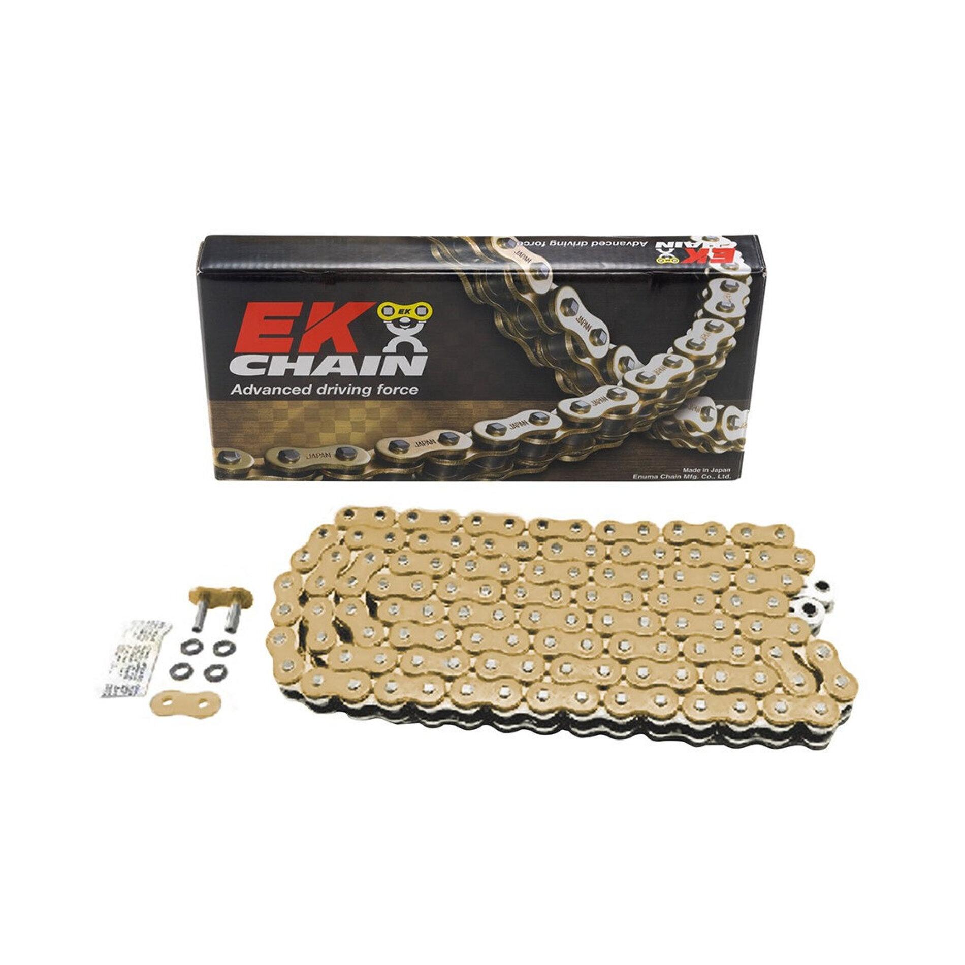 Chaîne EK 525 QX-Ring 120 maillons or