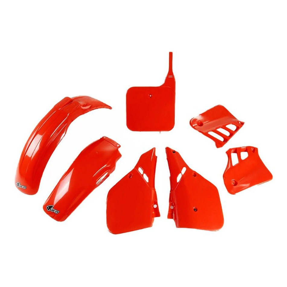 Kit plastique UFO Honda CR 125R 87-88 rouge (couleur origine 87)