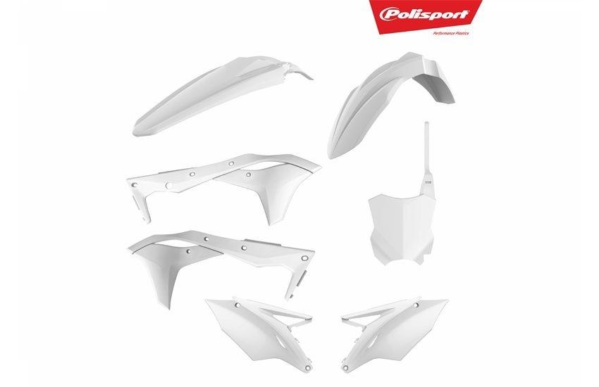 Kit plastique Polisport Kawasaki 250 KX-F 2017 blanc