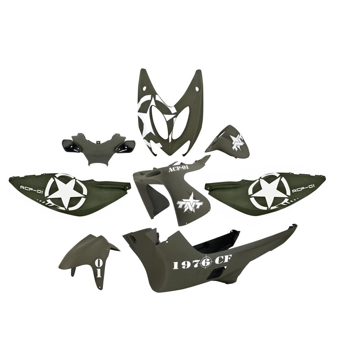 Kit habillage complet Army Nitro (8 pièces) - Noir Mat