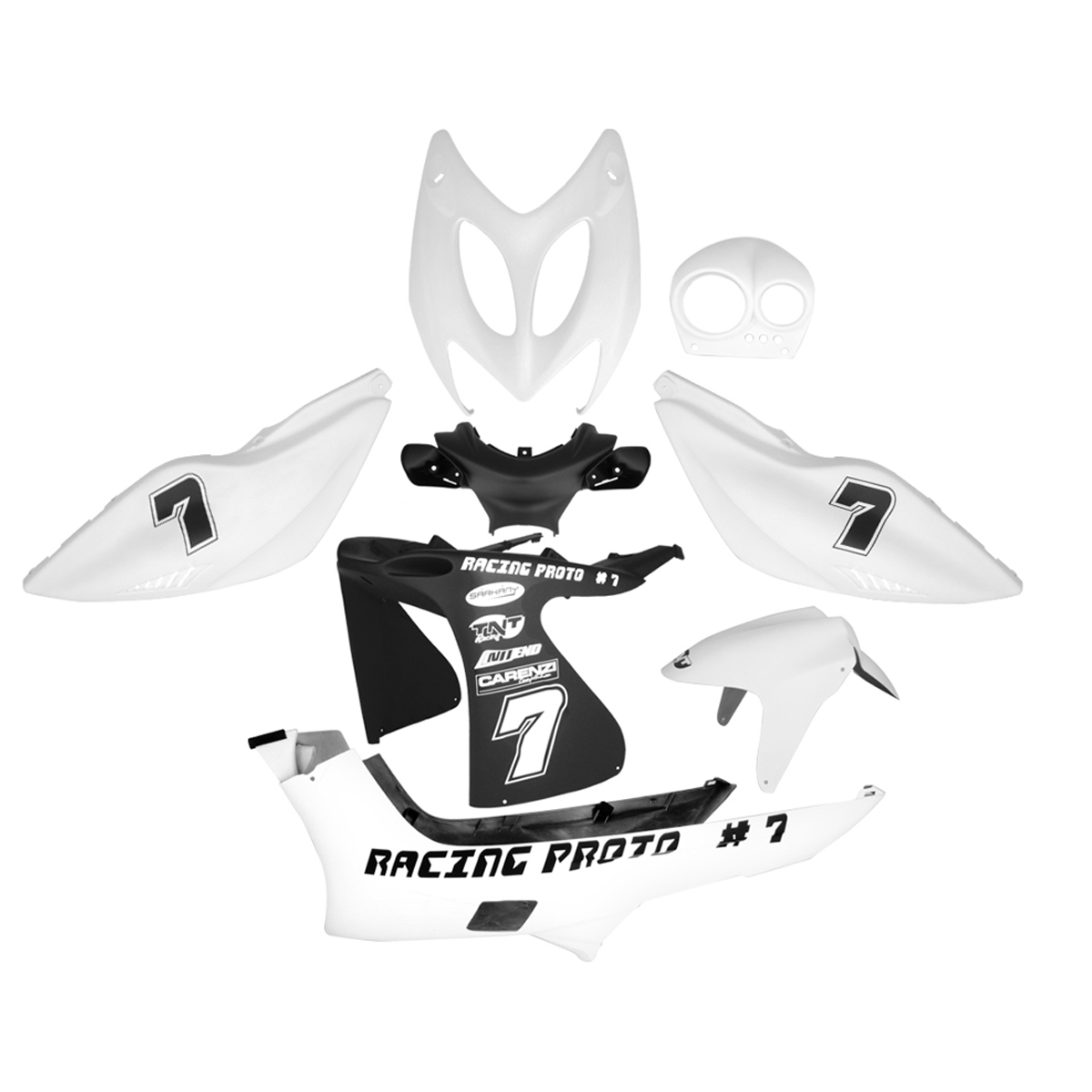 Kit habillage complet Racing Nitro - Blanc mat