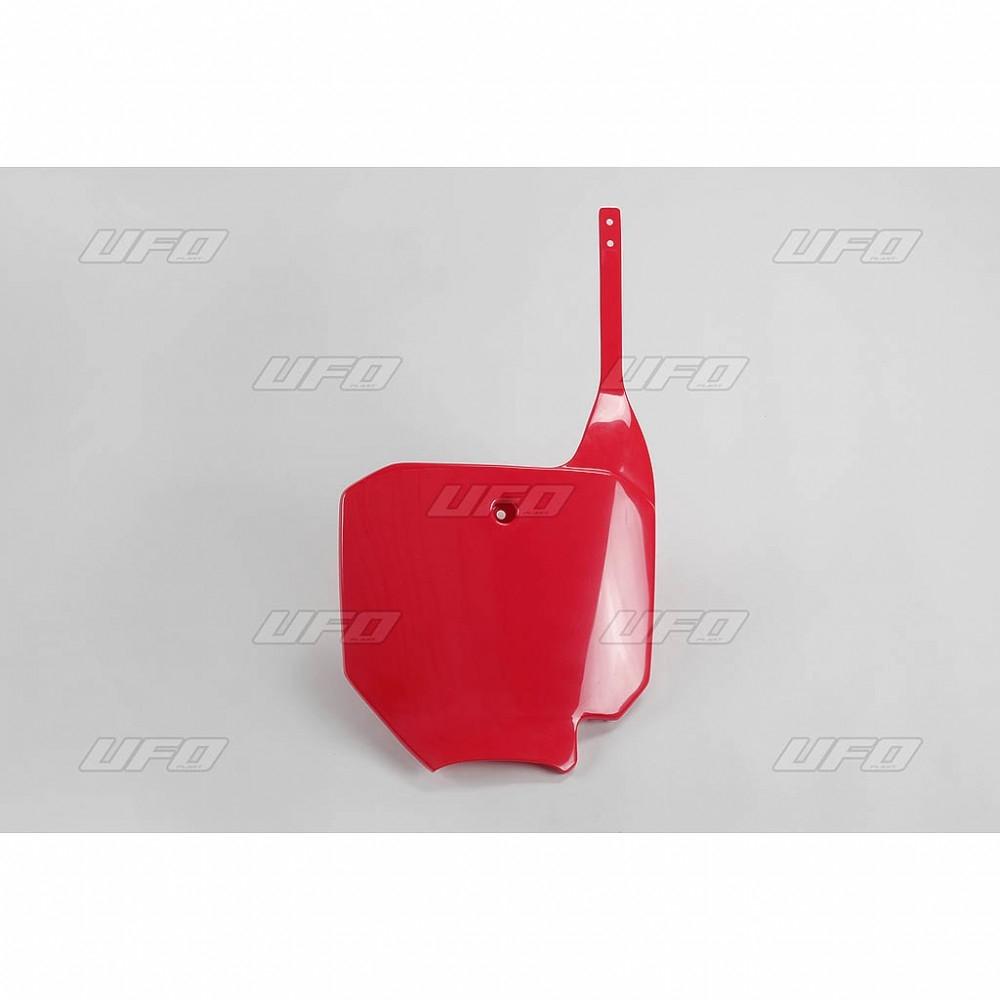 Plaque numéro frontale UFO Honda CR 85R 03-07 rouge (rouge CR/CRF 00-1