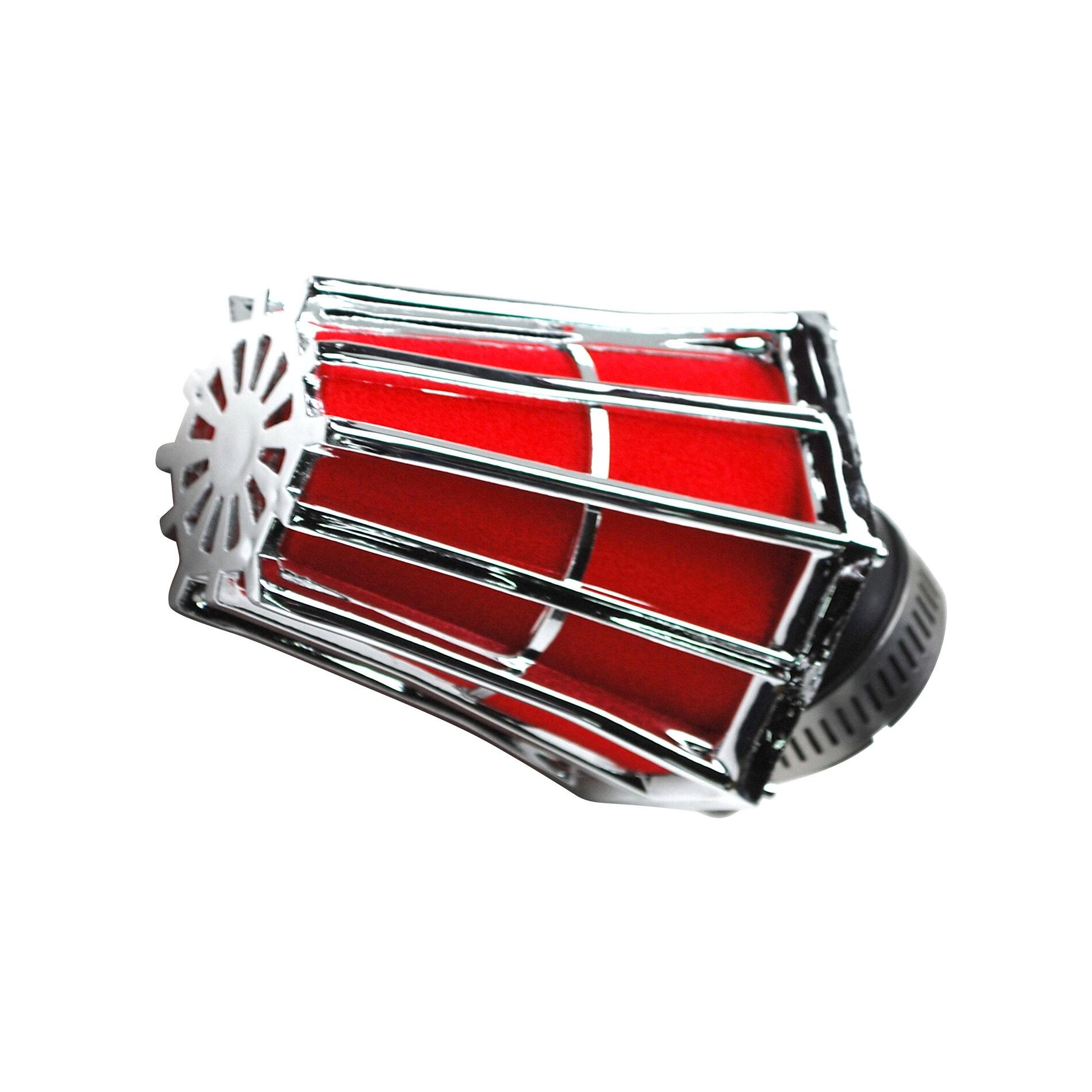 Filtre à air Hexagonal fixation à 30 D.28-35 mousse Rouge - Noir