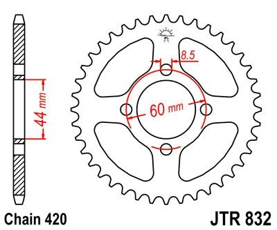 Couronne JT Sprockets Acier pas 420 49 dents - Pour Yamaha DT 50 MX 81
