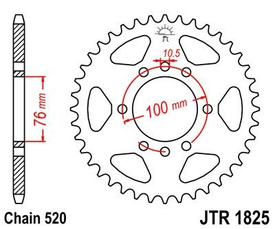 Couronne JT Sprockets Acier pas 520 48 dents - Pour Suzuki DR 750 88-9