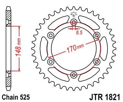 Couronne JT Sprockets Acier pas 525 47 dents - Pour Suzuki DR 800 94-9