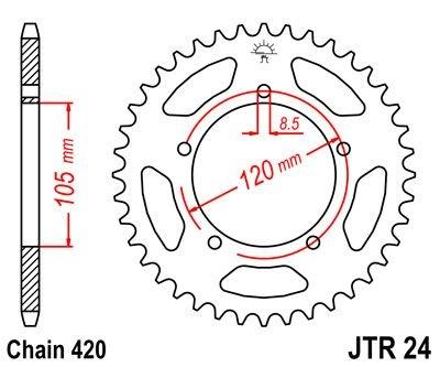 Couronne JT Sprockets Acier pas 420 50 dents - Pour Yamaha DT 50 SM 20