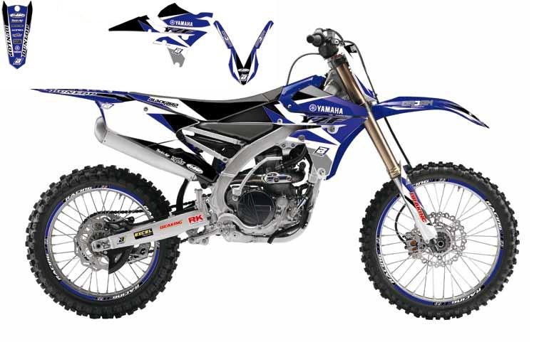 Kit déco Blackbird Dream Graphic 3 Yamaha 450 YZ-F 10-13 bleu