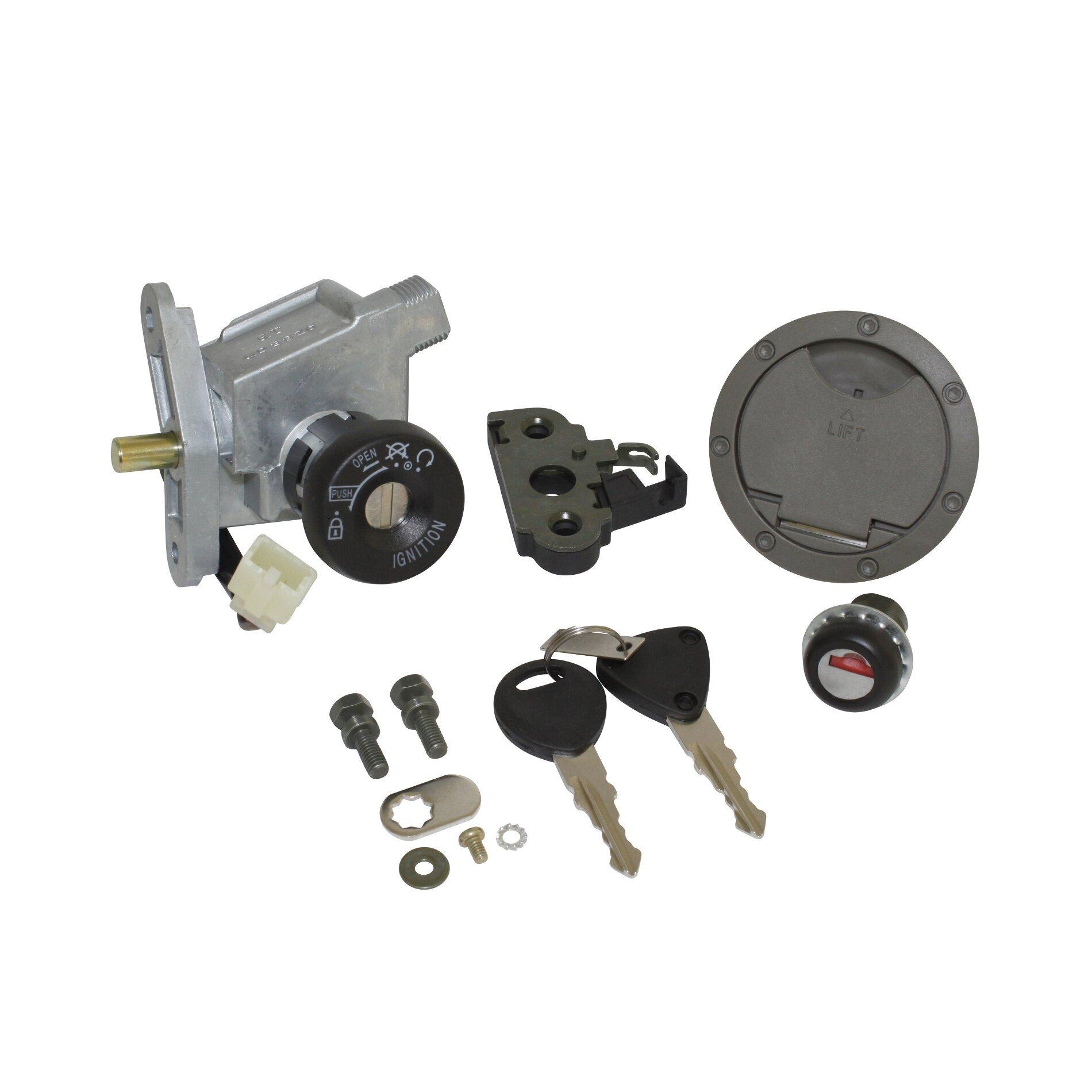 Contacteur à clé avec bouchon et serrure de selle adaptable MBK 50 Nit