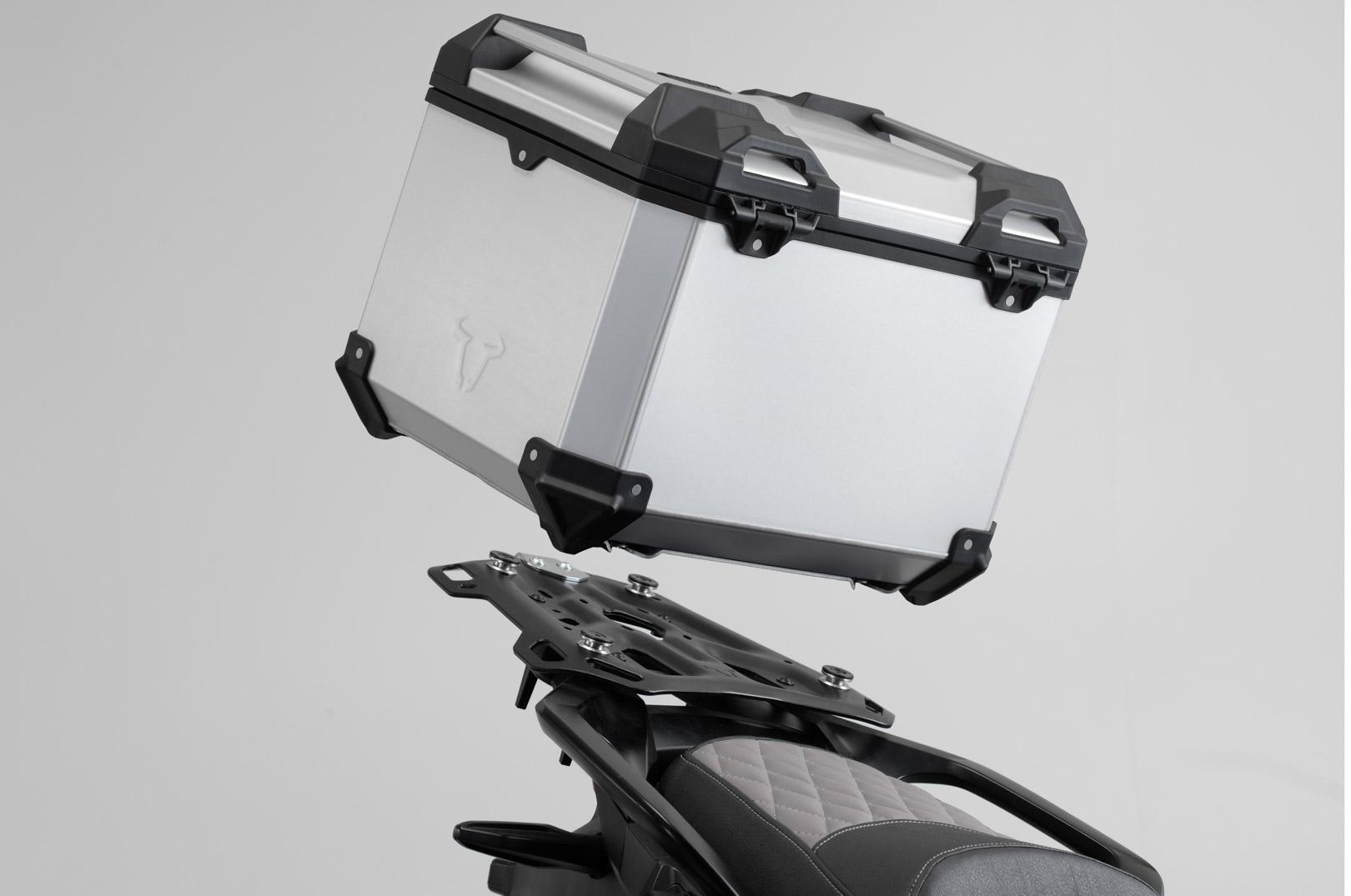 Kit Top-Case SW-MOTECH TRAX ADV 38L Gris Suzuki V-Strom 650 11-16