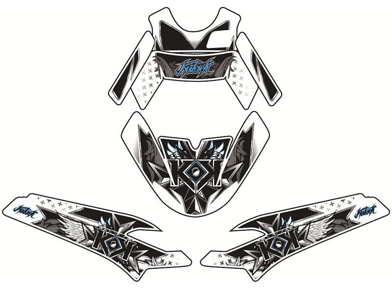 Kit déco Kutvek Demon bleu MBK Nitro