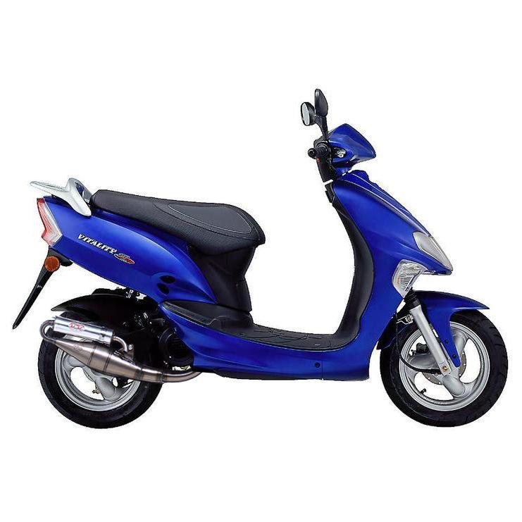 Pot déchappement scooter Leovince Hand Made TT pour Kymco Vitality 50