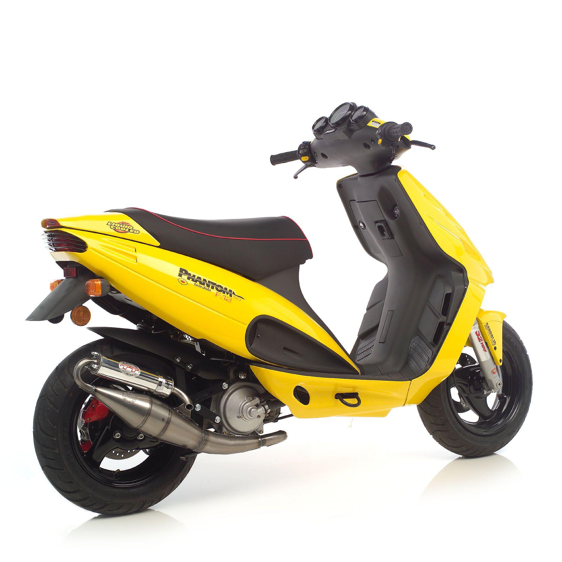 Pot déchappement scooter Leovince Hand Made TT pour Malaguti F12 Phan