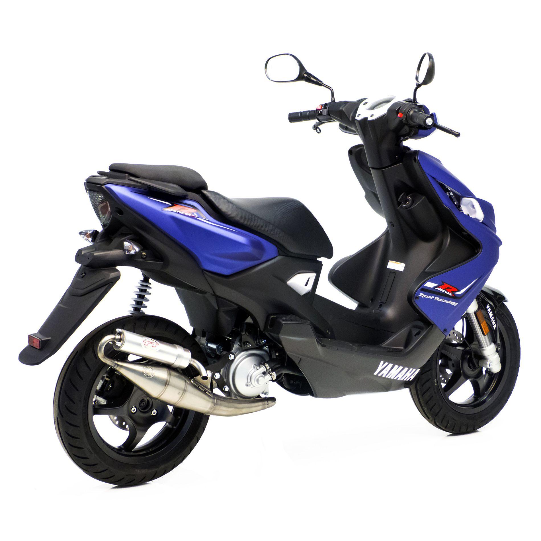Pot déchappement scooter Leovince Hand Made TT pour Yamaha Aerox 50 0