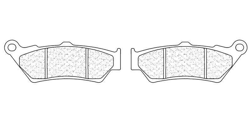 Plaquettes de frein Carbone Lorraine 2396S4