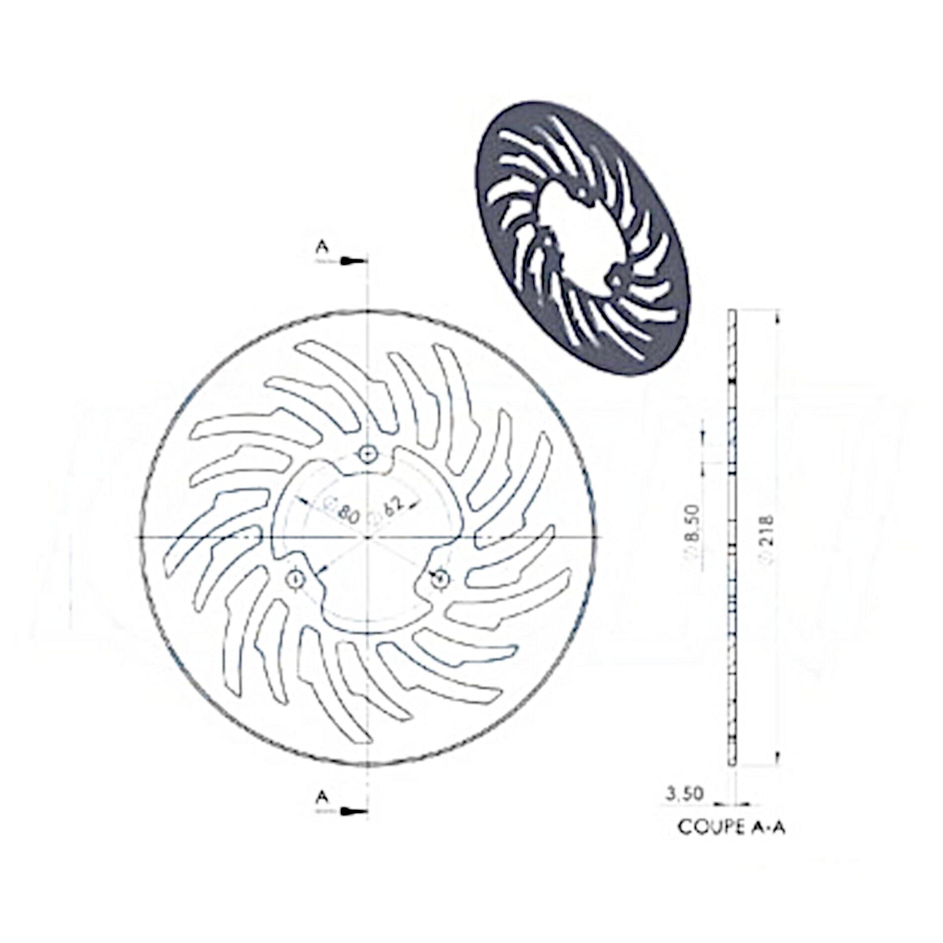 Disque de frein NG Brake Disc D.218 - 836