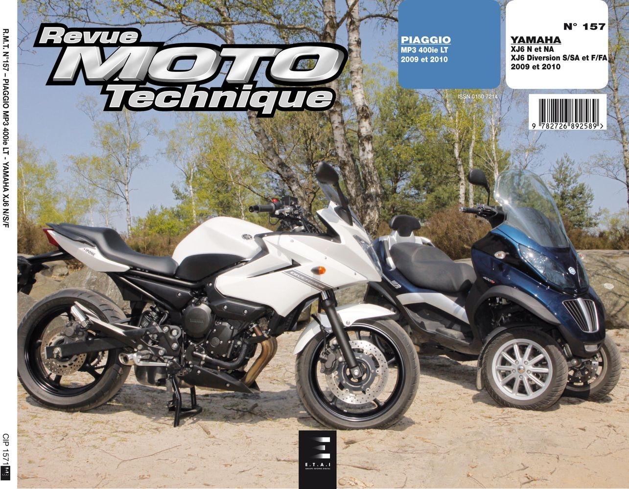 Revue Moto Technique 157.1 Piaggio MP3 400 LT / Yamaha XJ6