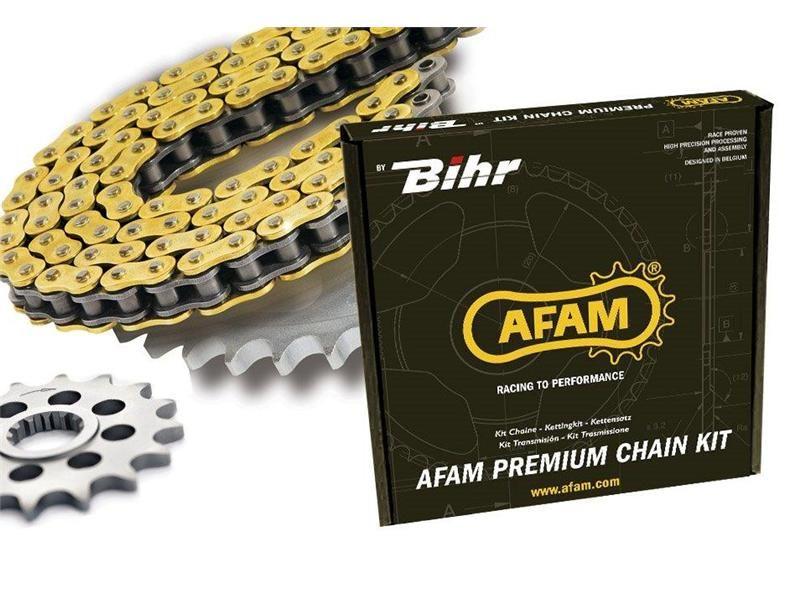 Kit chaîne Afam acier Aprilia Classic 50 92-99