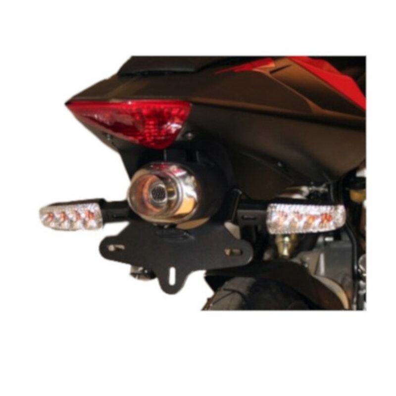 Support de plaque dimmatriculation R&G Racing noir Aprilia RS 50 06-1