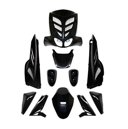Carrosserie BCD 9 pièces Mbk Stunt / Yamaha Slider noir non homologué