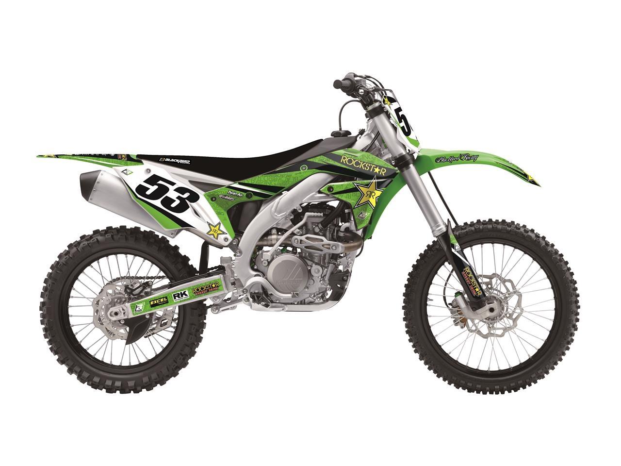 Kit déco + Housse de selle Blackbird Rockstar Energy Kawasaki 250 KX 0