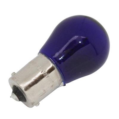 Ampoule BA15S S25 stop/clignotant 12V 21W Bleu