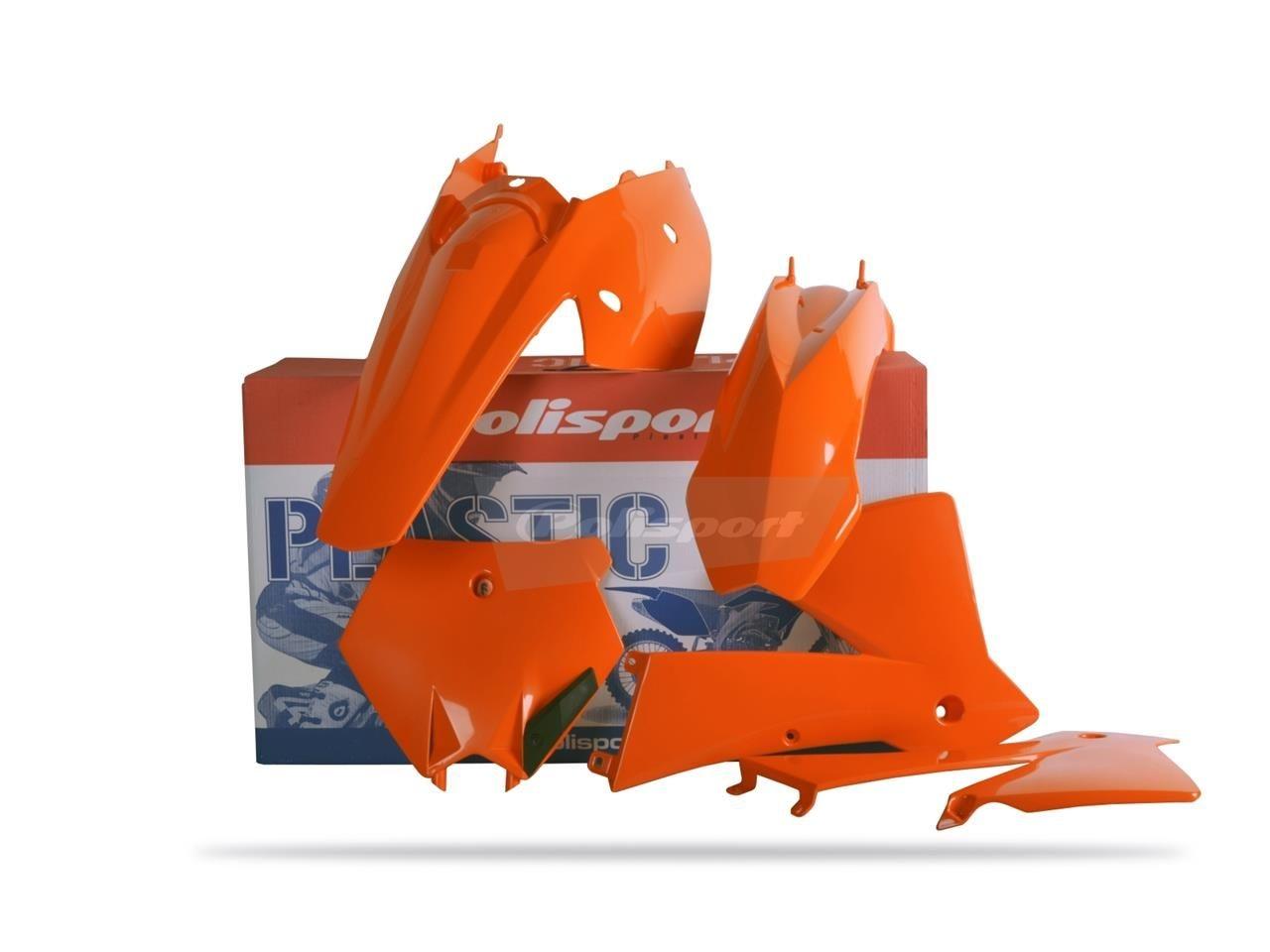 Kit plastique Polisport KTM 125 SX 2004 (orange origine)